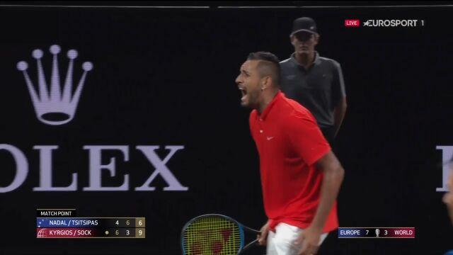 Kyrgios i Sock pokonali Nadala oraz Tsitsipasa w Pucharze Lavera