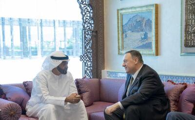 Mike Pompeo spotkał się z następcą tronu emiratu Abu Zabi Mohammadem Ibn Zajedem