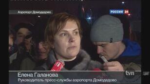 Rzeczniczka lotniska o sytuacji na Domodiedowie (Rossija 24)