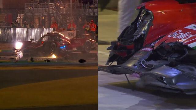 Kuriozalny wypadek w wyścigu 24h Le Mans. Kierowca jechał w poprzek toru