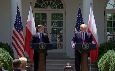 Trump: przez miniony wiek polscy i amerykańscy patrioci walczyli o niepodległość