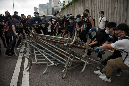 Przepychanki w Hongkongu
