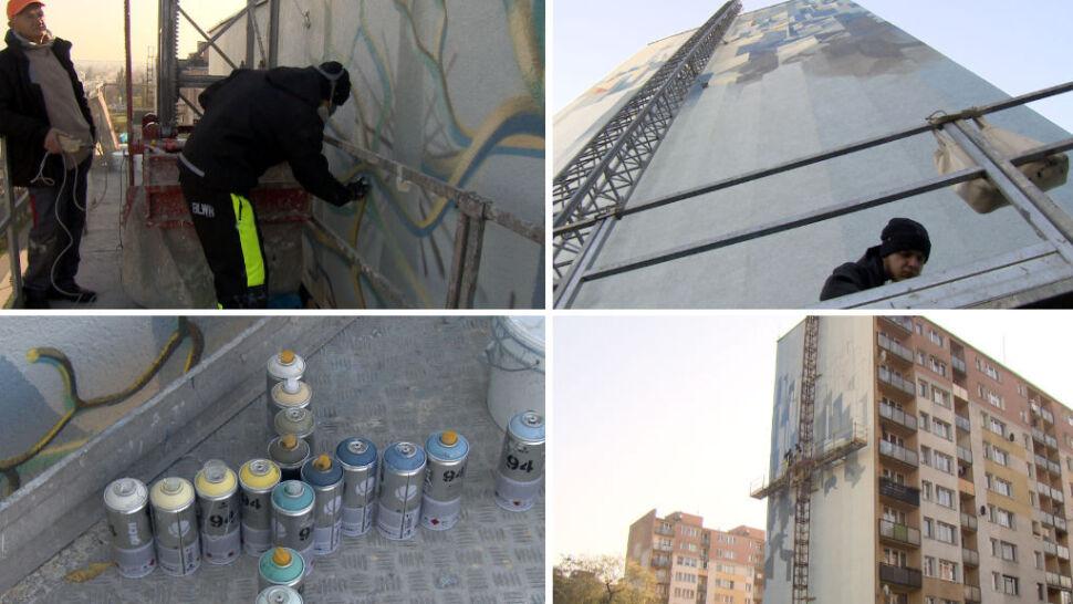Ściana jak gigantyczne płótno. Zobacz od kuchni, jak powstają murale
