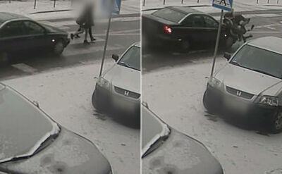 Samochód potrącił nastolatki na pasach. Kierowca uciekł