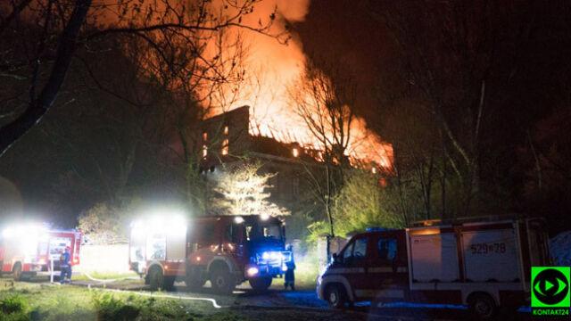 Spłonął zabytkowy pałac na Dolnym Śląsku