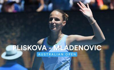 Skrót meczu Kristina Mladenovic - Karolina Pliskova w 1. rundzie Australian Open