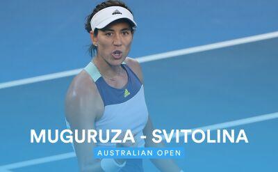 Skrót meczu Switolina - Muguruza w 3. rundzie Australian Open
