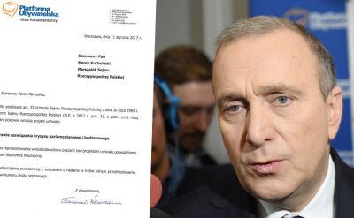 PO chce przerwy w obradach Sejmu do 18 stycznia