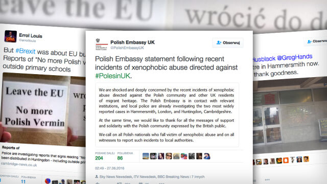 Ambasada zszokowana atakami na Polaków. Brytyjska prasa pisze o fali rasizmu