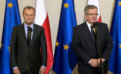 Konferencja premiera i prezydenta po posiedzeniu Rady Bezpieczeństwa Narodowego