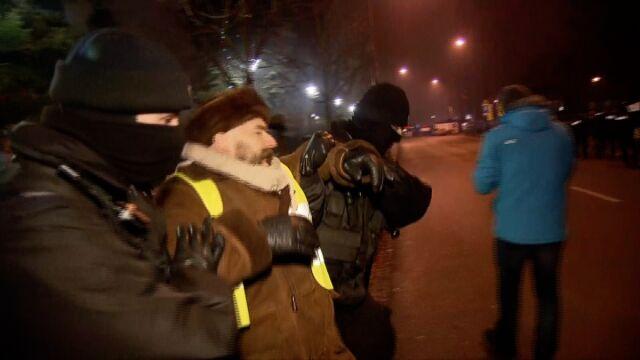 Interwencja policji przed Sejmem