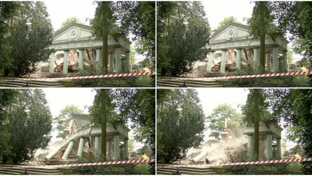 """W kilka minut zburzyli radzieckie mauzoleum.  """"Ostatni bastion komunizmu padł na pysk"""""""