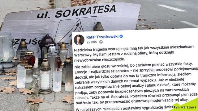 Rafał Trzaskowski o tragicznym wypadku