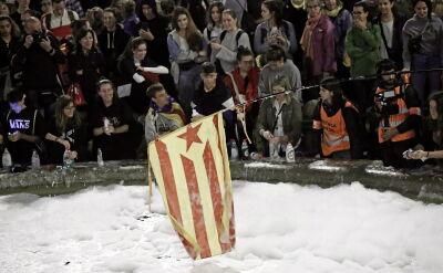Separatyści i dziennikarze protestowali w Barcelonie