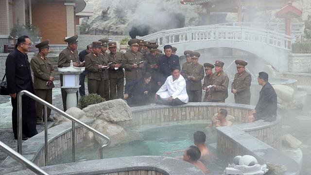 Kim Dzong Un z misją w spa
