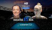 Skrót meczu Świątek - Rus w 1. rundzie Australian Open
