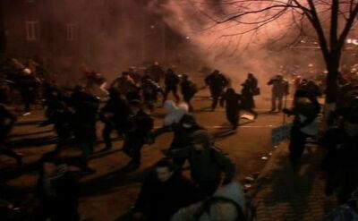 Milicja użyła gazu łzawiącego