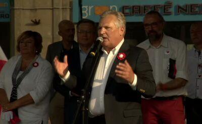 Kwaśniewski: las polskich i europejskich flag to największa nagroda