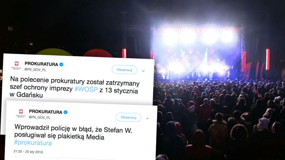 Ochroniarz z finału WOŚP w Gdańsku usłyszał zarzuty. Prokuratura: chciał zataić zaniedbania
