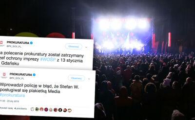 Na polecenie prokuratury zatrzymano szefa ochrony finału WOŚP w Gdańsku