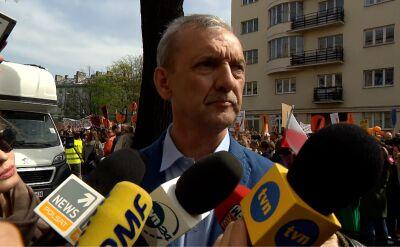 Broniarz: rząd zlekceważył prostest
