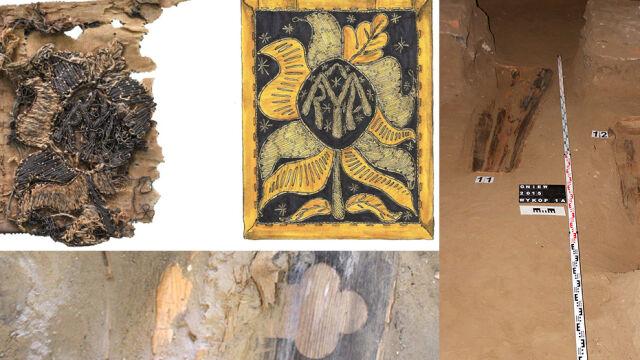 Trumny pod posadzką kościoła, a w nich jedwabie i złoto