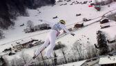 Skok Jewgienija Klimowa z 1. serii konkursu w Garmisch-Partenkirchen