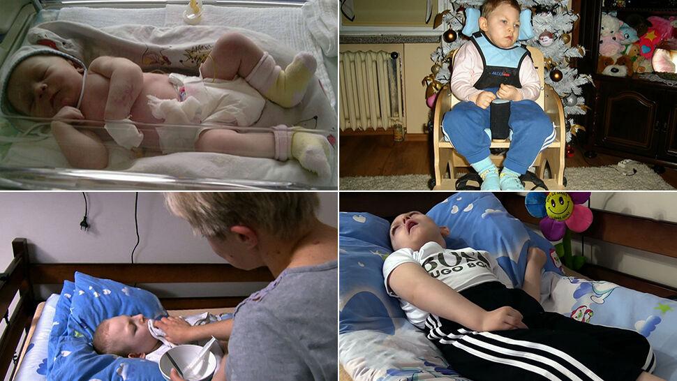 Sąd skazał lekarzy, ubezpieczenia nie chcą  wypłacić, a mały Karol walczy o zdrowie