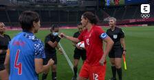 Tokio. Skrót meczu Japonia - Kanada w piłce nożnej kobiet