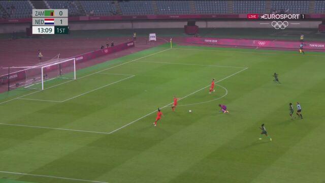 Piłka nożna kobiet. Zambia- Holandia 0:2 (gol Lieke Martens)