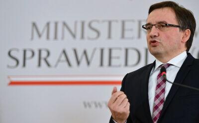 """Stanowisko prezydenta """"w pełni podziela"""" minister sprawiedliwości Zbigniew Ziobro"""