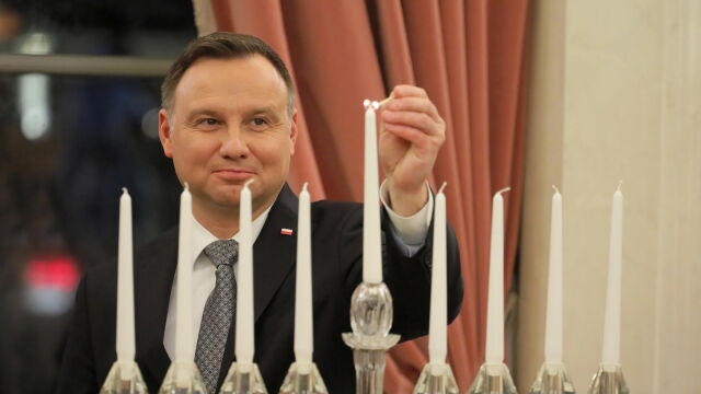 Chanukowe świece zapłonęły w Pałacu Prezydenckim
