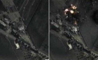 Pierwsze nagranie z rosyjskich nalotów w Syrii