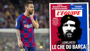 Messi na okładce francuskiej gazety. Został porównany do Che Guevary