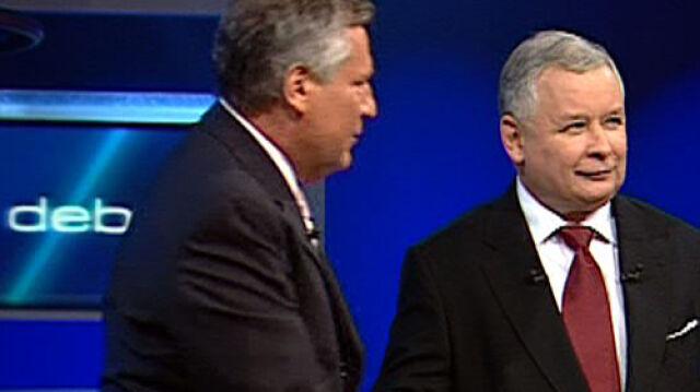 Kwaśniewski i Kaczyński debatują