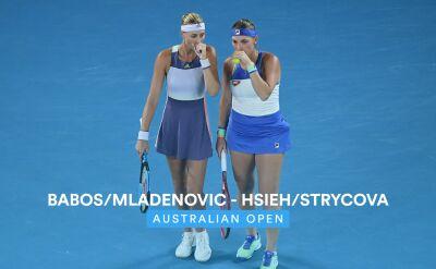 Skrót finału debla pań w Australian Open