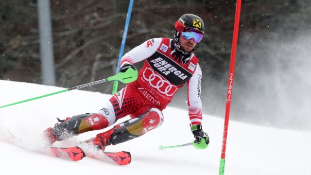 Ciężki dzień pracy i zwycięstwo Hirschera w slalomie w Zagrzebiu