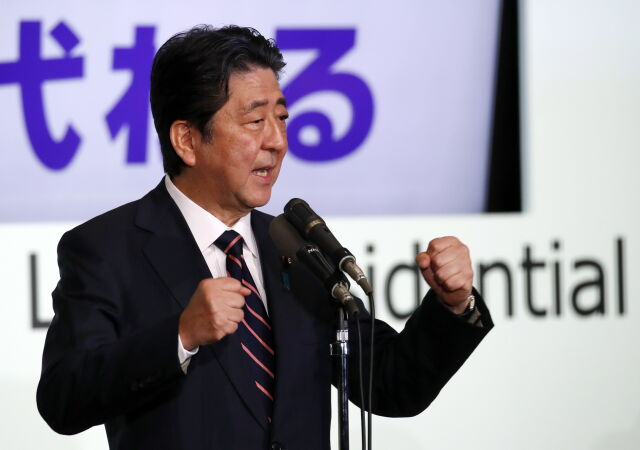 Premier Abe ponownie wybrany na szefa rządzącej partii