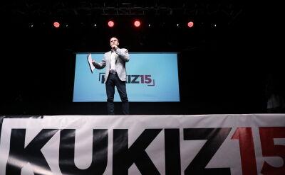 Paweł Kukiz na konwencji Kukiz'15 w Warszawie