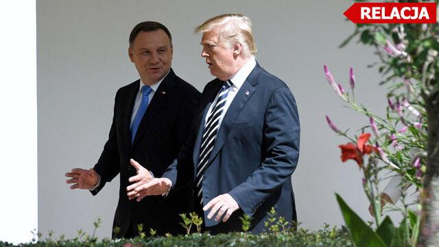 Wspólna konferencja prezydentów Polski i USA