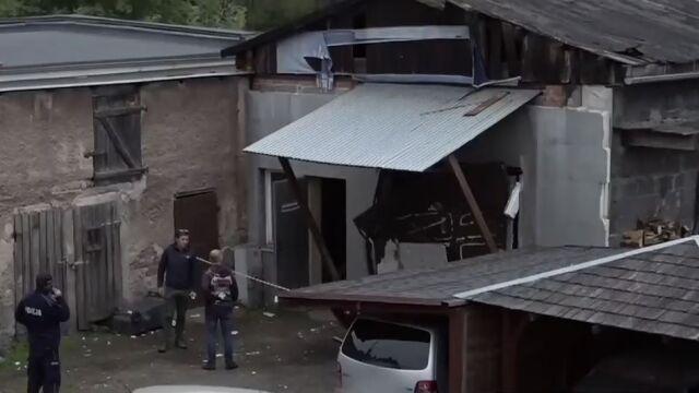 Eksplozja w garażu. Prokuratura: produkowali tam narkotyki