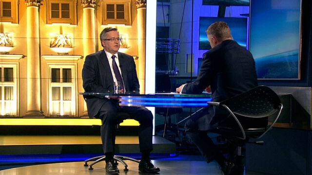 Komorowski: na razie to Jarosław Kaczyński jest prezesem PiS