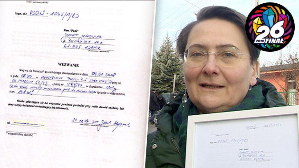 """Wezwanie na policję za """"jestem wk****ona"""" wylicytowano za 10 tysięcy złotych"""