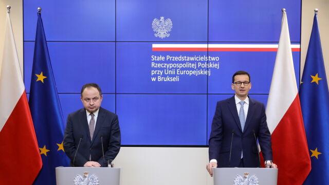 Pytania od dziennikarzy i odpowiedzi premiera Morawieckiego