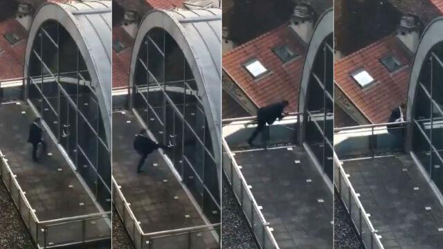 """Europoseł PiS zatrzasnął się na dachu. """"Dezorientacja, a nie agresja"""""""