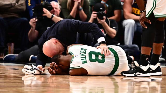 Pechowe zderzenie z kolegą. Koszykarz NBA na noszach opuścił parkiet