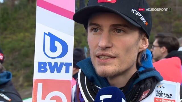 Daniel Andre Tande po wygraniu konkursu indywidualnego w Wiśle