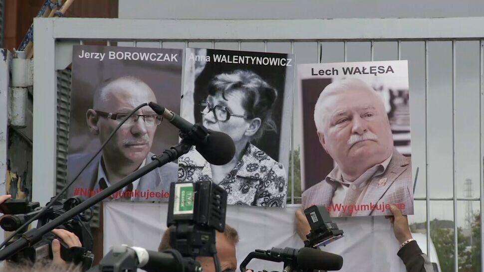 Portrety sygnatariuszy Porozumień Sierpniowych pojawiły się na bramie stoczni. I zostały zdjęte