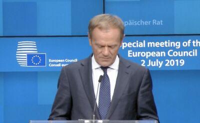 Donald Tusk: jest porozumienie w sprawie unijnych stanowisk