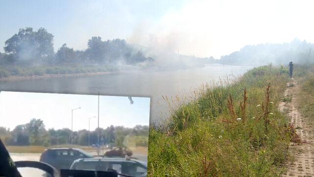Strażacy jechali do pożaru, na sygnale. Utknęli na skrzyżowaniu.